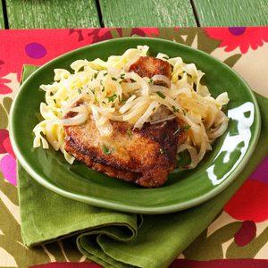 Marsala Pork Chops for Two