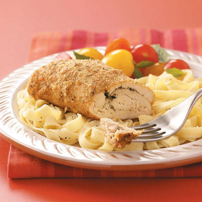 Mascarpone-Pesto Chicken Rolls