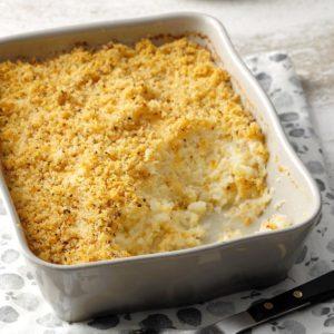 Mashed Cauliflower au Gratin