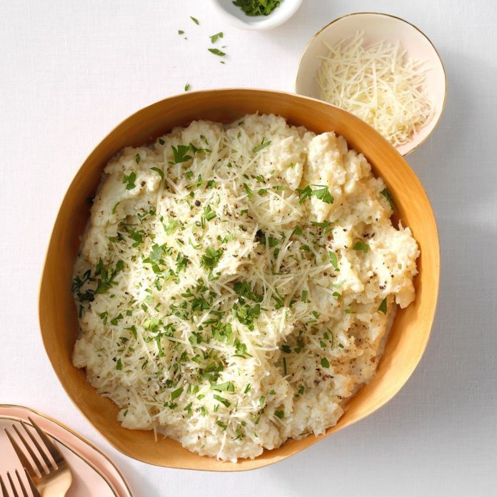 Mashed Cauliflower with Parmesan