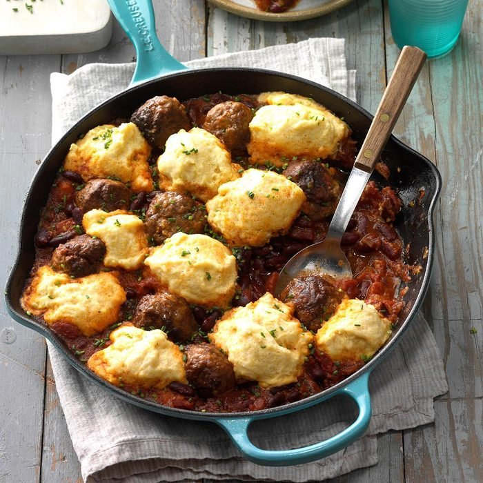 Meatball Chili with Dumplings