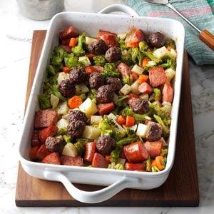 Meatballs Sausage Dinner