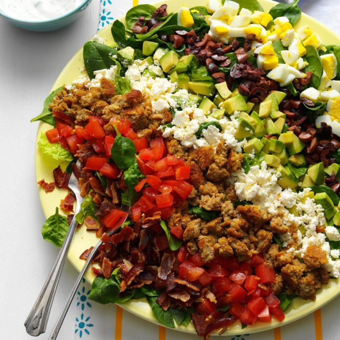 Day 4 Lunch: Mediterranean Cobb Salad
