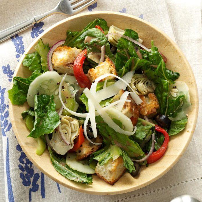 Mediterranean Romaine Salad