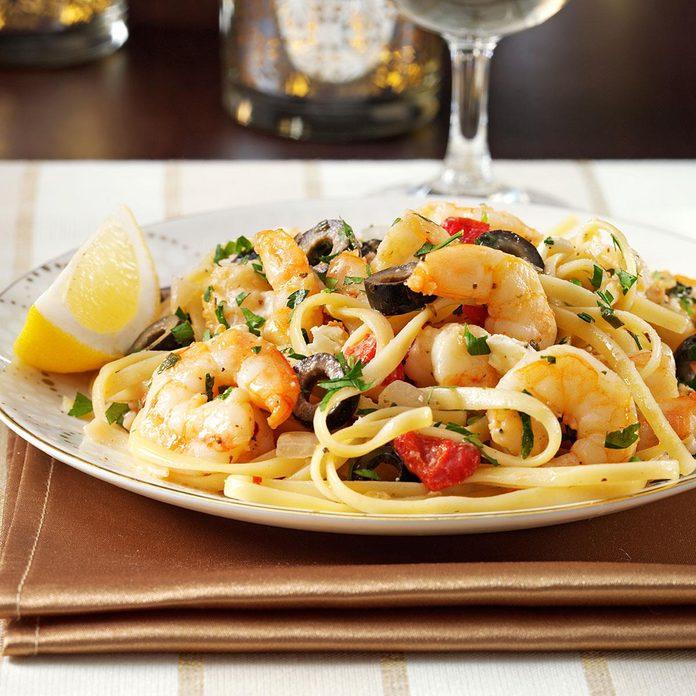 Mediterranean Shrimp Linguine