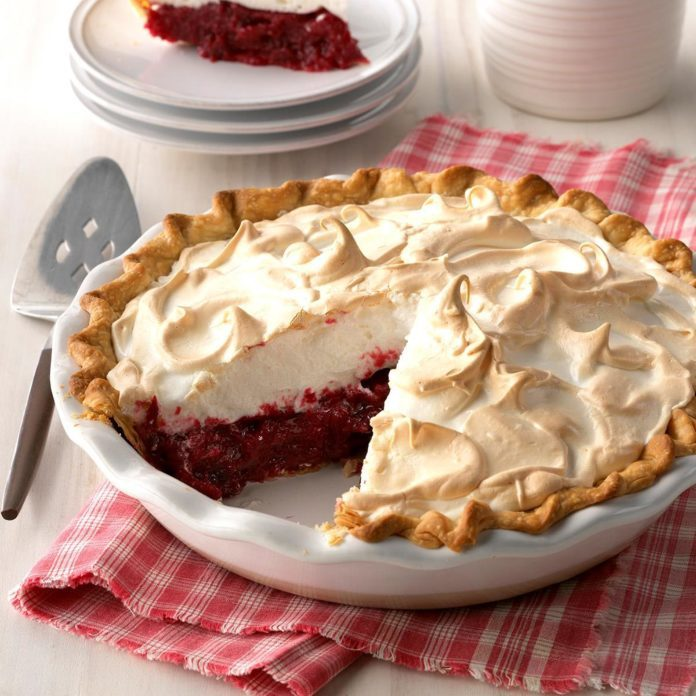 Meringue Cranberry Pie