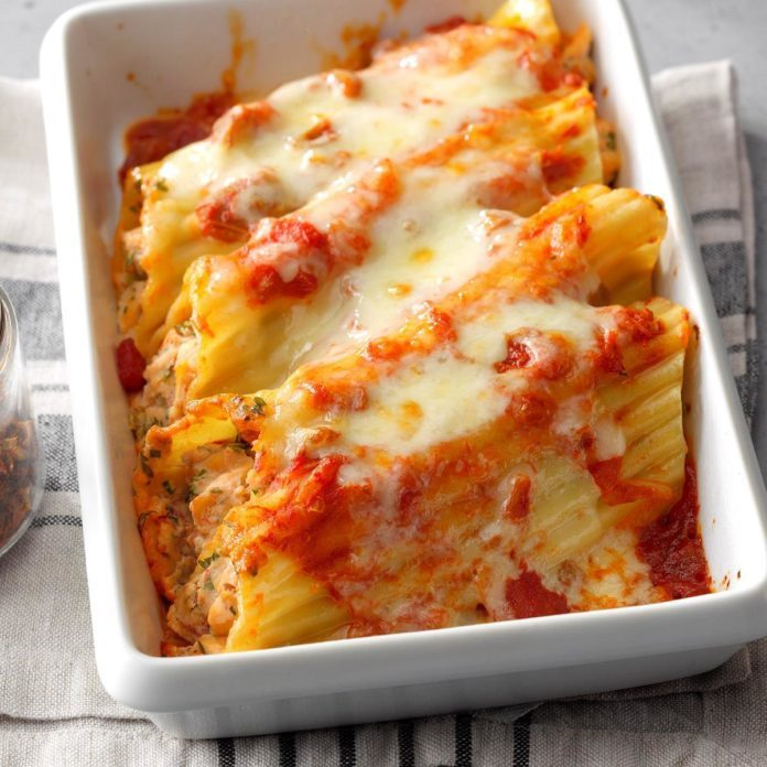 Mexican-Style Chicken Manicotti