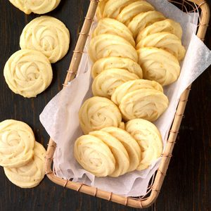 Mimosa Butter Cookies