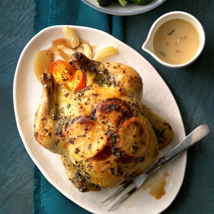 Mimosa Roasted Chicken