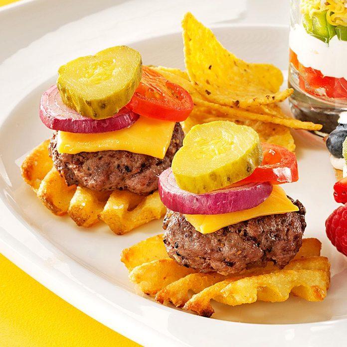 Mini-Burger Potato Bites