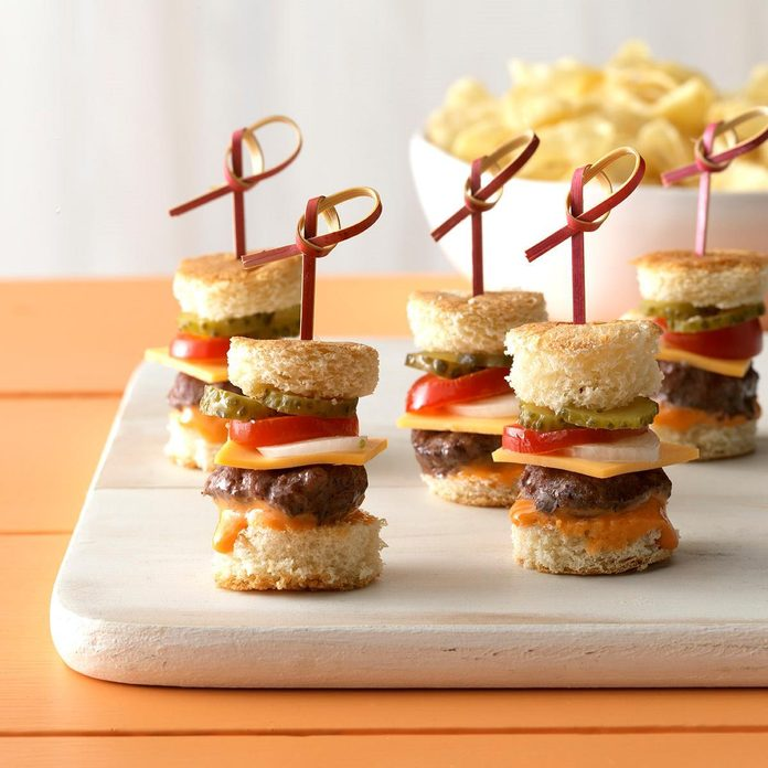 Mini Burgers with the Works