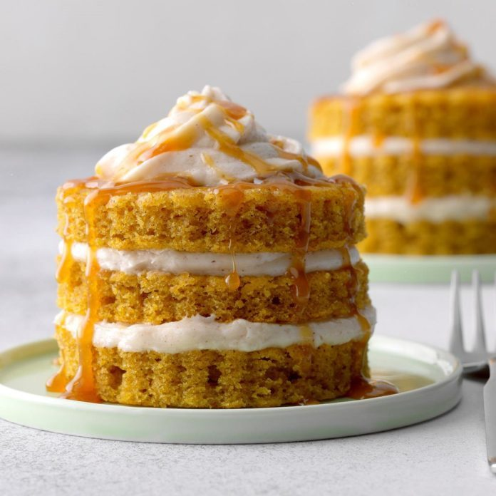 Miniature Pumpkin Cake Towers