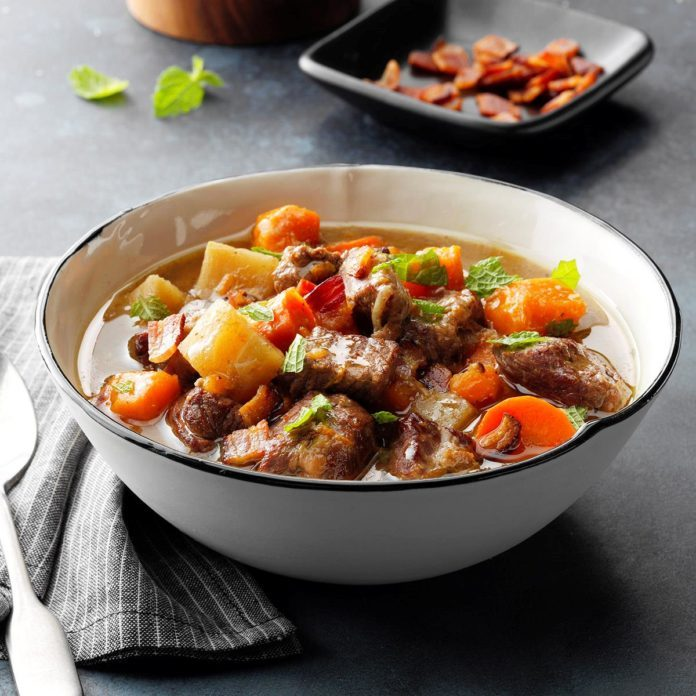 Mint Lamb Stew