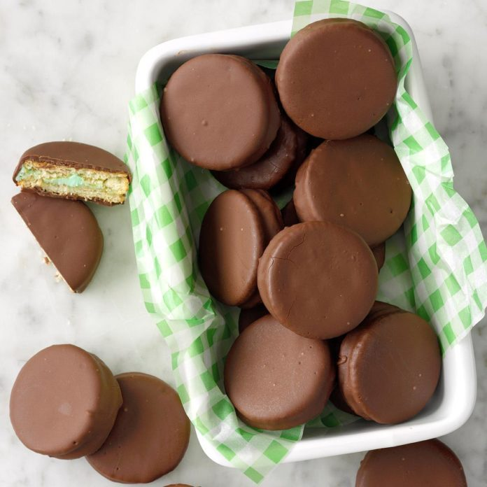 Mint Sandwich Cookies