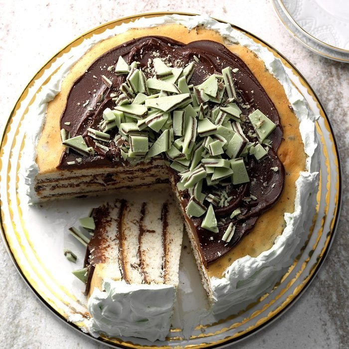 December Birthday: Minted Chocolate Torte