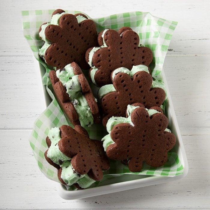 Minty Ice Cream Shamrocks