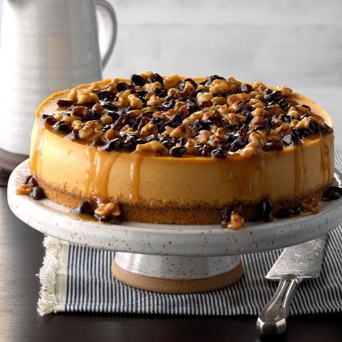 Moist Maple Pumpkin Cheesecake