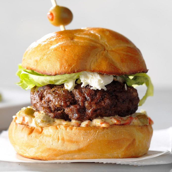 Mom S Favorite Olive Burgers Recipe How To Make It Taste Of Home