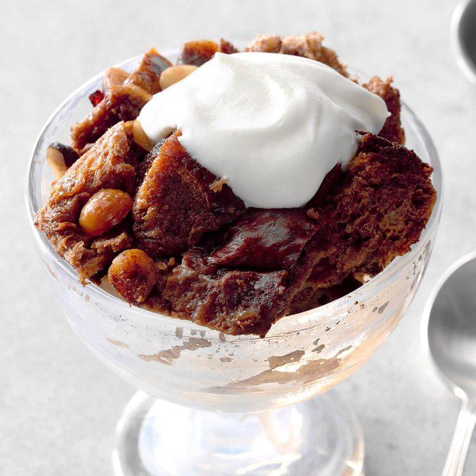 Mom's Hazelnut & Chocolate Bread Pudding