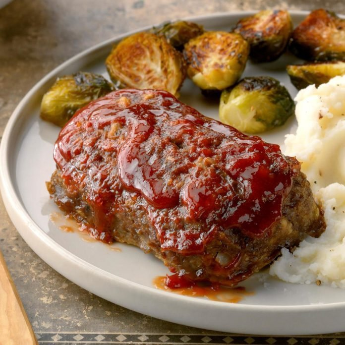 Mom's Meat Loaf for 2