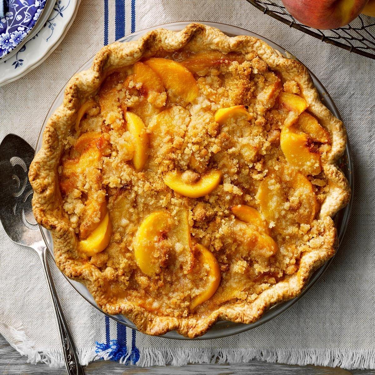 Mom S Peach Pie Recipe How To Make It Taste Of Home