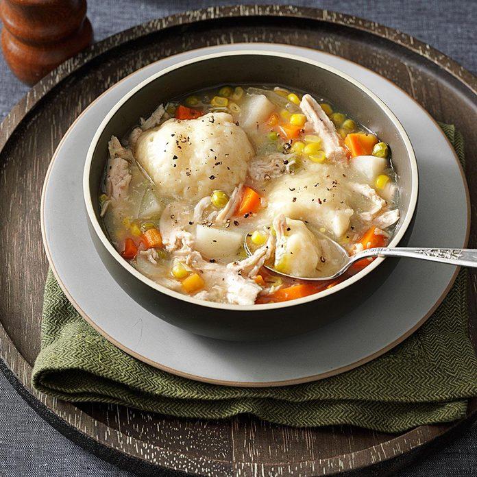 Momma's Turkey Stew with Dumplings