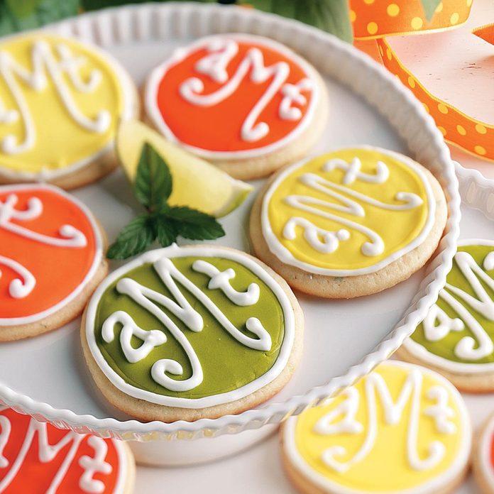 Monogrammed Cookies