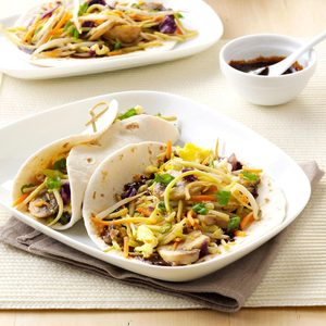 Moo Shu Mushroom Wraps