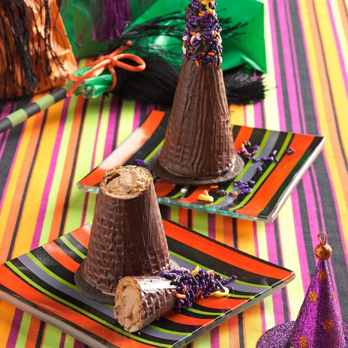 Mousse-Filled Witches' Hats
