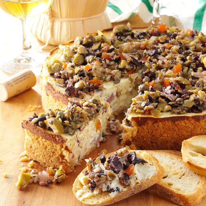 Muffuletta Cheesecake