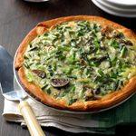 Mushroom Asparagus Quiche