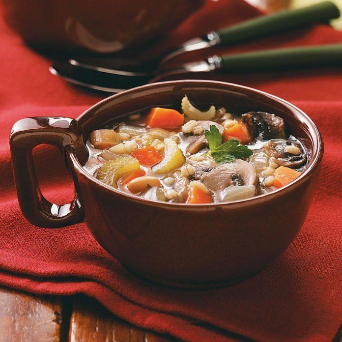 Mushroom Bean Barley Soup