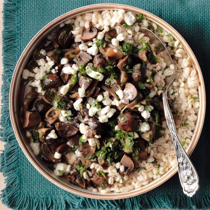 Day 9: Mushroom Marsala with Barley