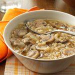 Mushroom Onion Barley Soup