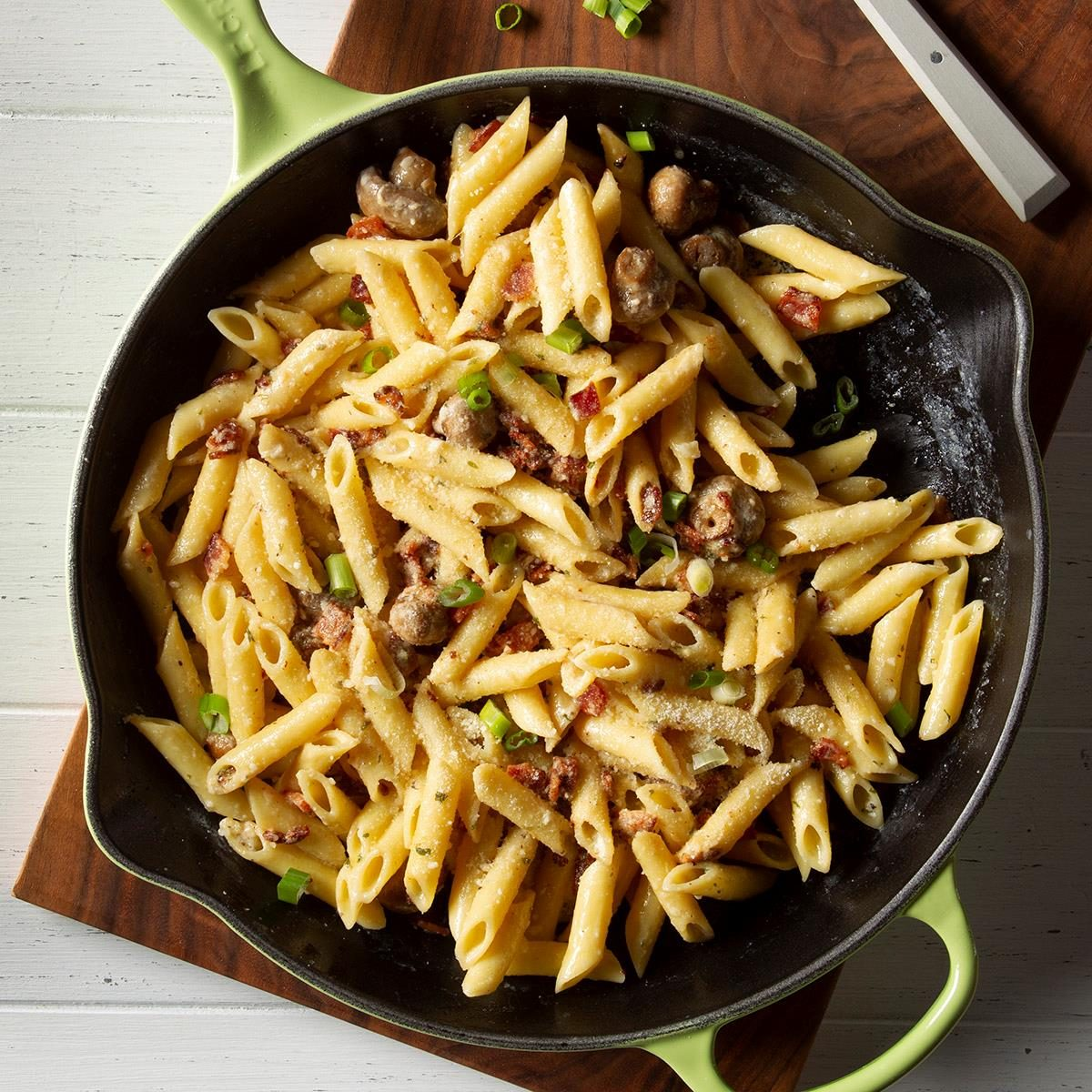 Day 22: Mushroom Pasta Carbonara