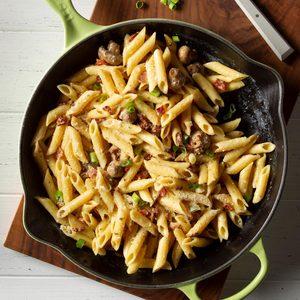 Mushroom Pasta Carbonara