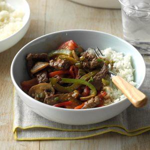 Mushroom Pepper Steak