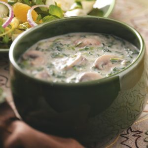 Mushroom-Spinach Cream Soup