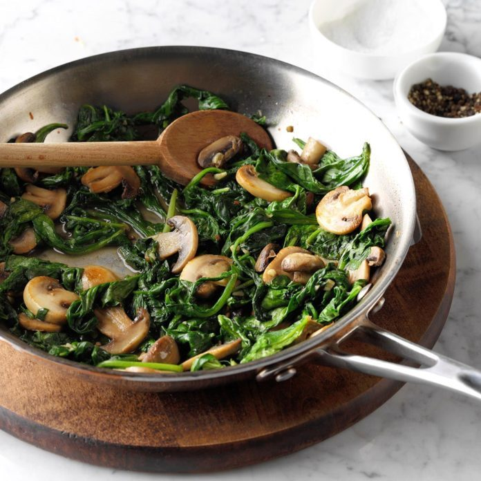 Mushroom and Spinach Saute