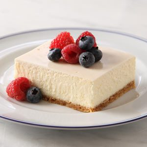 New York-Style Sour Cream Topped Cheesecake
