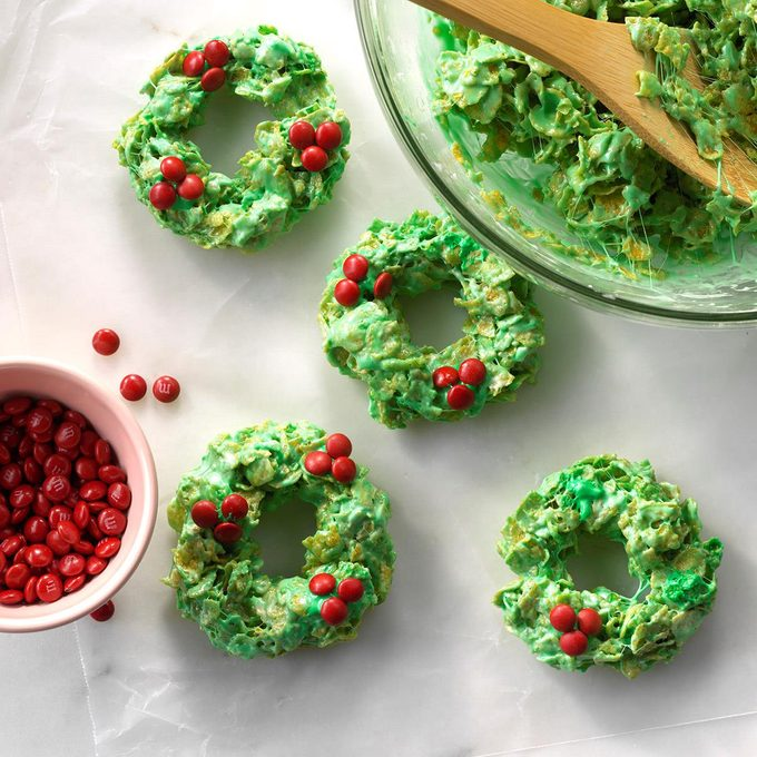 No-Bake Christmas Wreath Treats