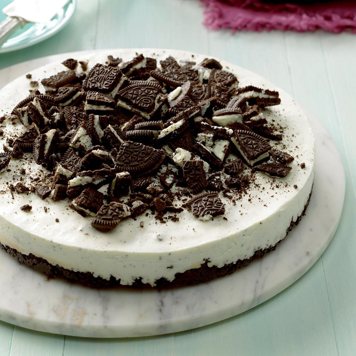No Bake Oreo Cheesecake Recipe How To Make It Taste Of Home