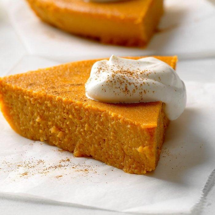 healthy pumpkin recipes - No-Crust Pumpkin Pie