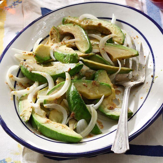 No-Fuss Avocado Onion Salad