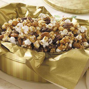 Nutty Caramel Popcorn
