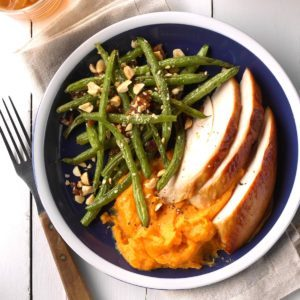 Nutty Maple Roasted Green Beans