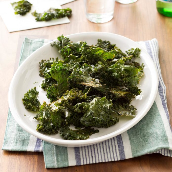 Old Bay Crispy Kale Chips