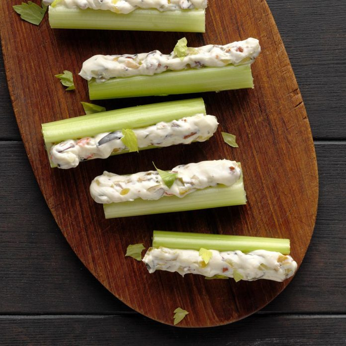 Olive-Stuffed Celery