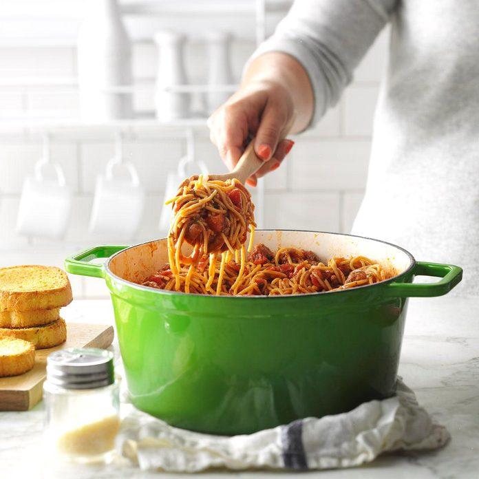 Day 24: One-Pot Meaty Spaghetti