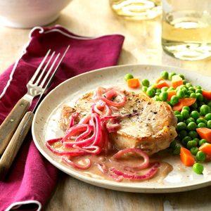 Onion-Dijon Pork Chops
